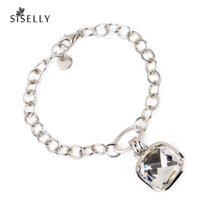 Great gift idea - silver bracelet with Swarovski crystal