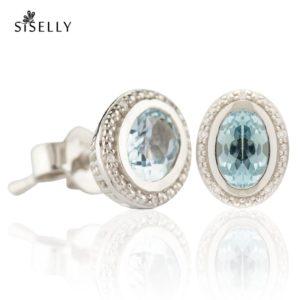 Suurepärane kingitus - hõbedast kõrvarõngad Topaas kristalliga