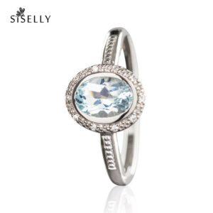 Suurepärane kingitus - hõbedast sõrmus Topaas kristalliga