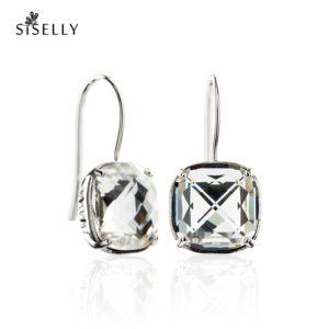 Suurepärane kingitus - kõrvarõngad hõbedast Swarovski kristalliga
