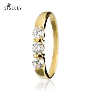 Suurepärane kingitus - kullaga kaetud hõbedast sõrmus