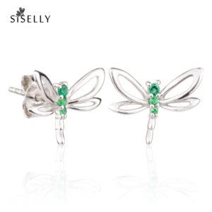 Siselly ehetd ja kõrvarõngad, hõbeehted ja hõbekõrvarõngad, Emerald Nanokristallid. Suurepärane kingitus.