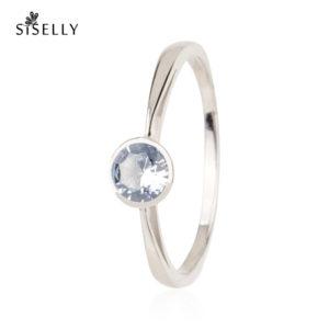 Siselly ehted ja sõrmused, hõbeehted ja hõbesõrmused, Sky Blue Nanokristallid. Suurepärane kingitus.